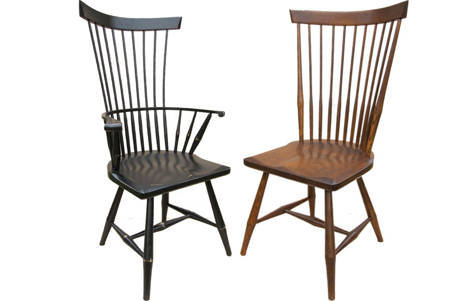 Merveilleux Fan Back Arm Chair And Side Chair