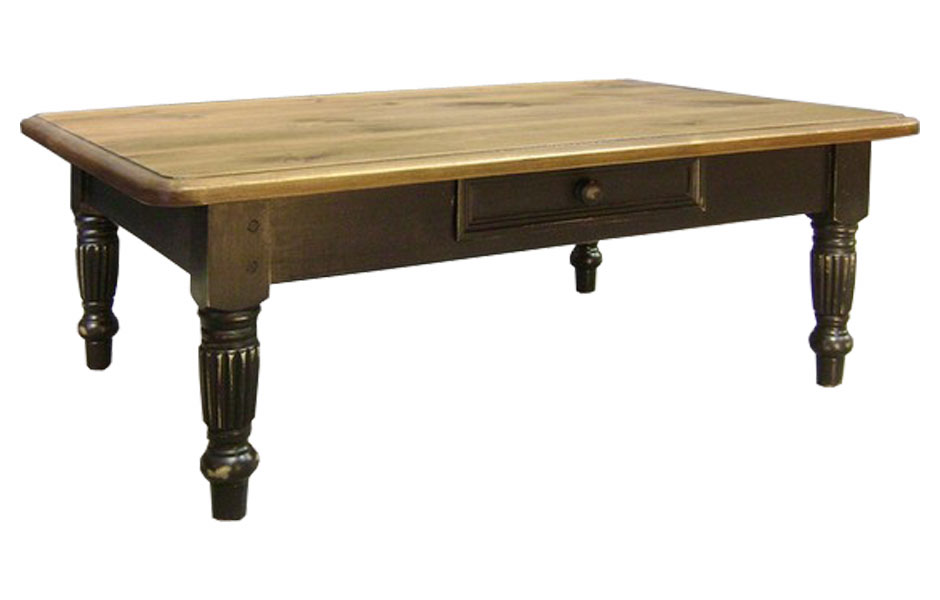 Fluted Leg Coffee Table Kate Madison Furniture