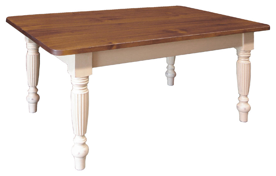 Fluted Table With Table Extensions ...