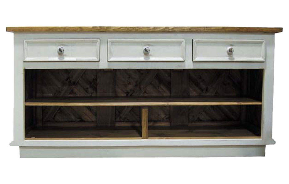 French Country Kitchen Island Horizontal Drawers French