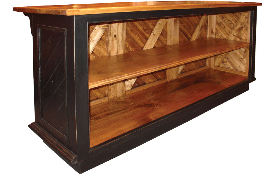 French Country Kitchen Island Open Shelf French Country