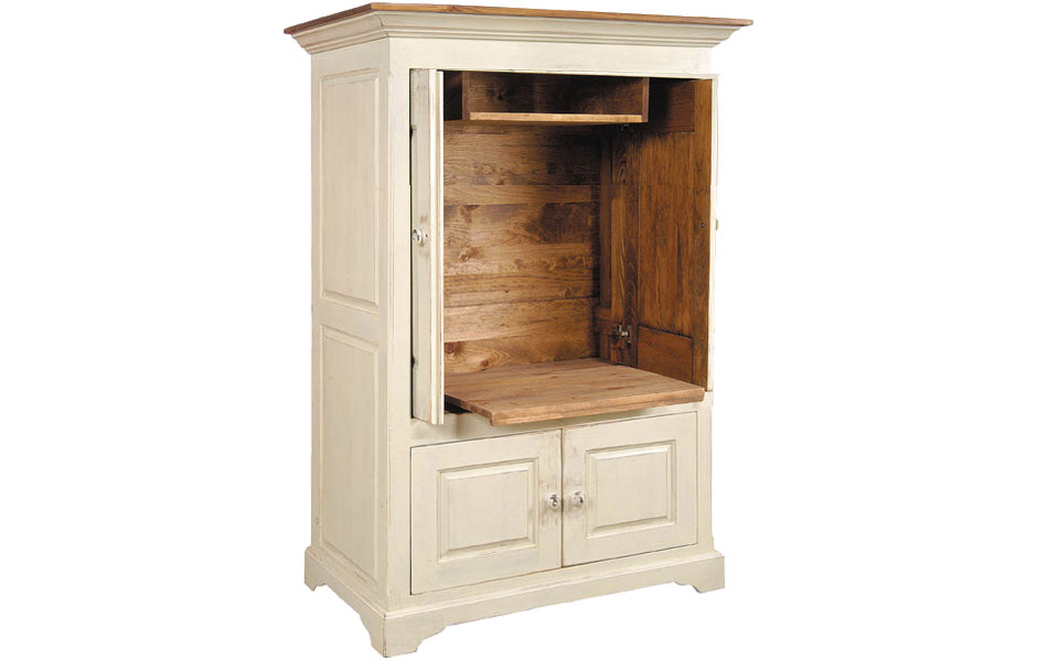 Pocket door tv armoire kate madison furniture for Armoire tv