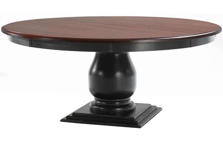 French Country 72 Inch Round Pedestal Table French