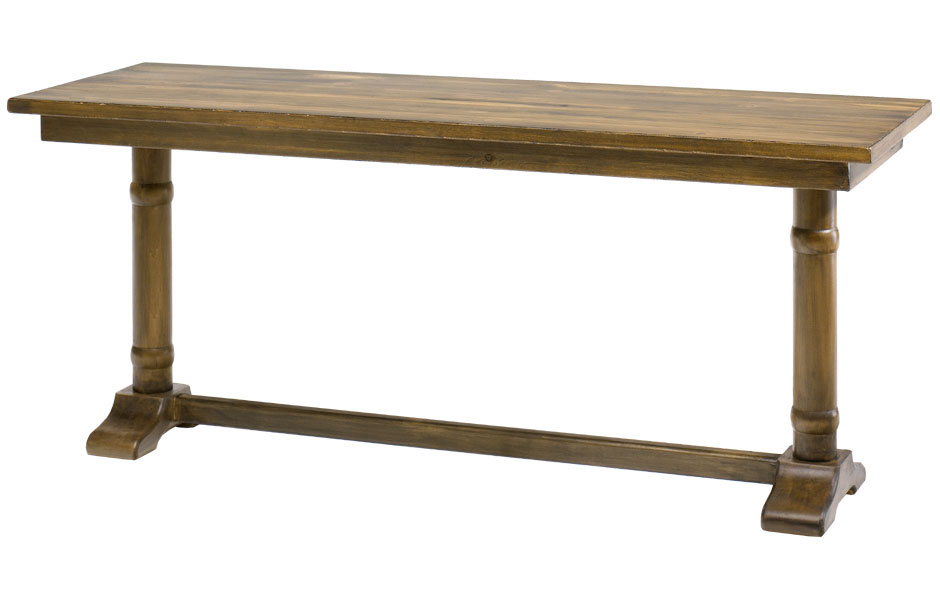 French Country Trestle Leg Console Table French Country