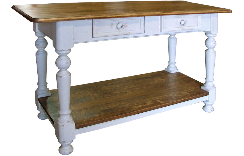 Turned Leg Sofa Table Finished In Champlain