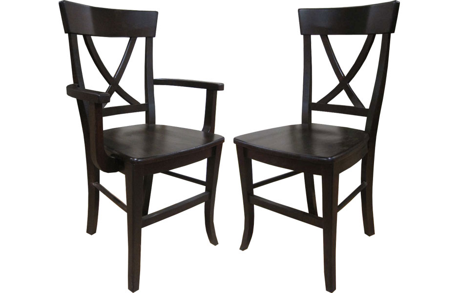 X Back Arm Chair And Side Chair