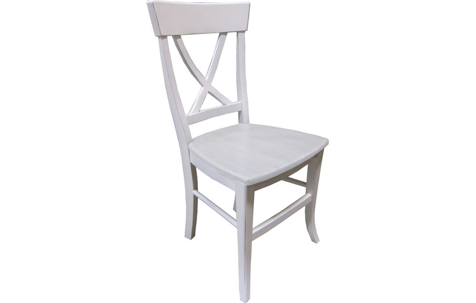 X Back Side Chair In White Paint