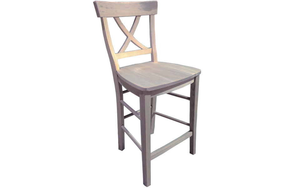 French Country X Back Barstool French Country Furniture