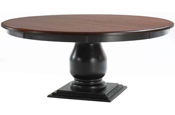 French Country 72 Round Pedestal Dining Table