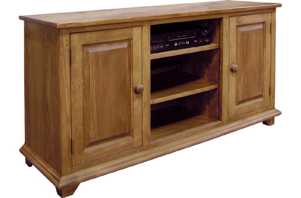 French Country French Country TV Stand with Doors and Open Shelf