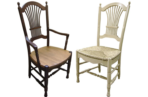French Country Wheat Back Dining Chair