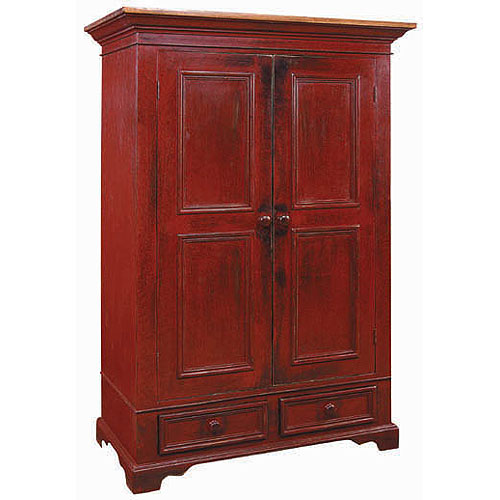 french country garde robe armoire wardrobe armoire with clothes rod. Black Bedroom Furniture Sets. Home Design Ideas