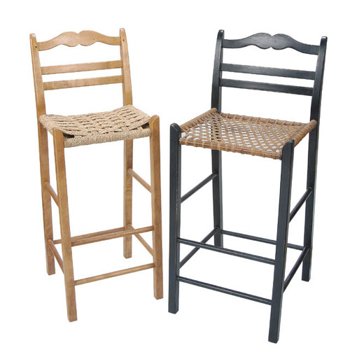 French Kitchen Stools: French Country Ladderback Bar Stool & Counter Stool