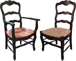 Country French Ladderback Chair