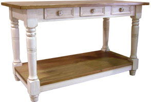 French Country Kitchen Island Work Table