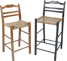 French Country Ladderback Stool