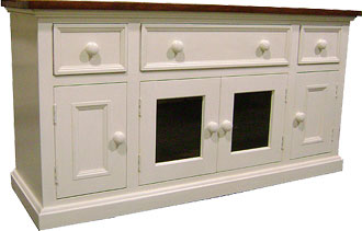 French Country Media Console Tv Stand