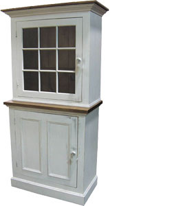 French Country Single Door Stepback Cupboard