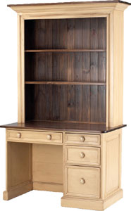 Desk with Open Hutch