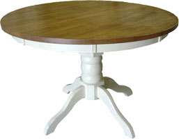 48 Round Footed Pedestal Dining Table