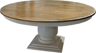 French Country Round Pedestal Dining Table