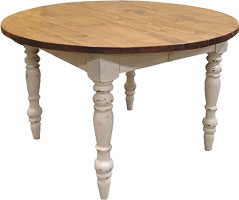 48 Round Turned Leg Dining Table