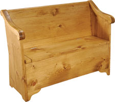 Sleigh Bench with Storage