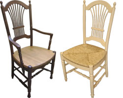 French Country Paysanne Chair. Wheat Back Chair